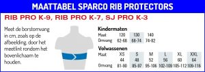 maattabel_sparco_rib_protectors