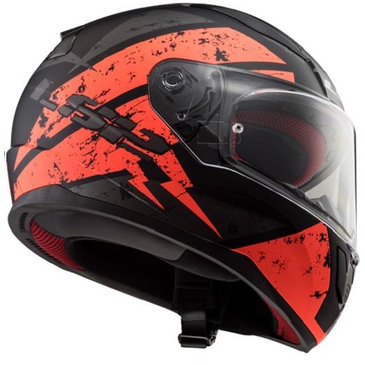 LS2 Helm Deadbolt Oranje/Zwart