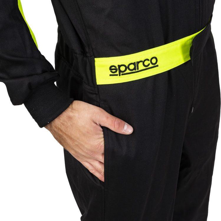 Sparco Rookie Zwart Geel Side